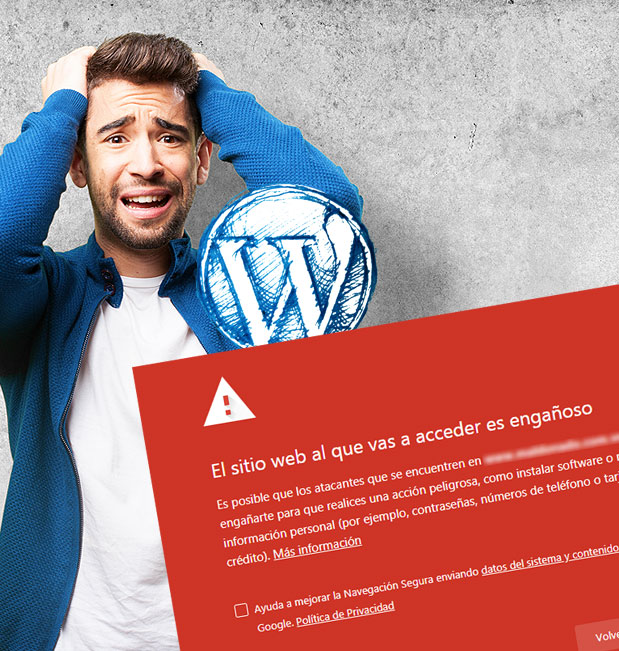 """Cómo arreglar """"El sitio al que vas a acceder contiene programas dañinos"""" en WordPress"""