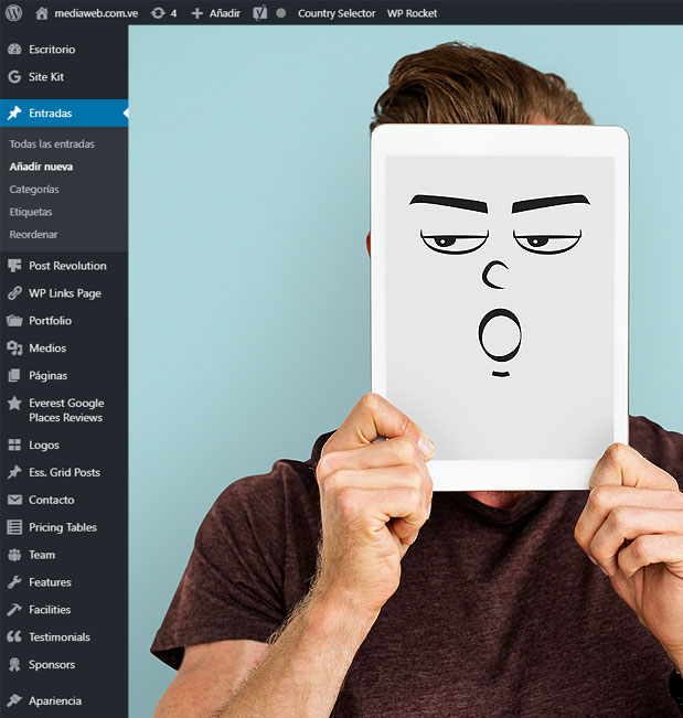 ¿Te aburre o incomoda la barra de herramientas de tu administrador wordpress?..¡personalízala!